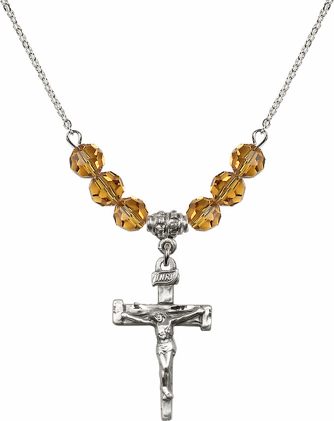 Nail Crucifix and Nail Cross Beaded Necklaces