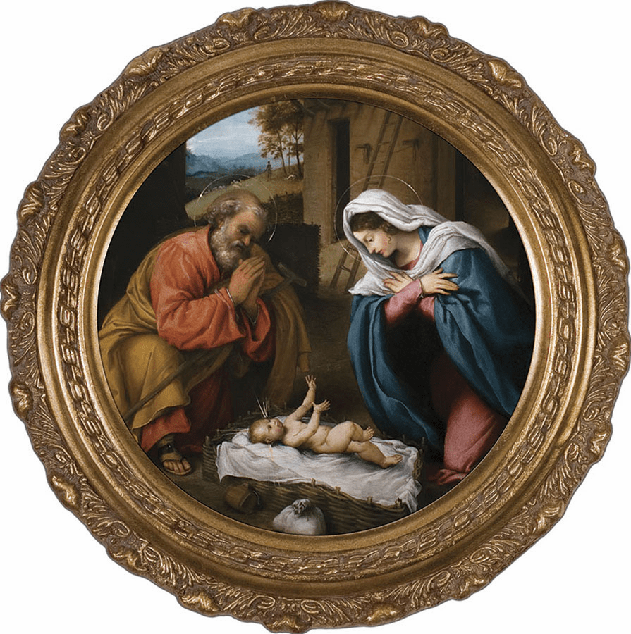 Nativity with Reaching Jesus Canvas Wall Art by Nelson