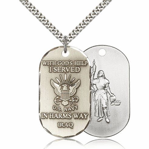 Navy St Joan of Arc Served in Iraq Medal
