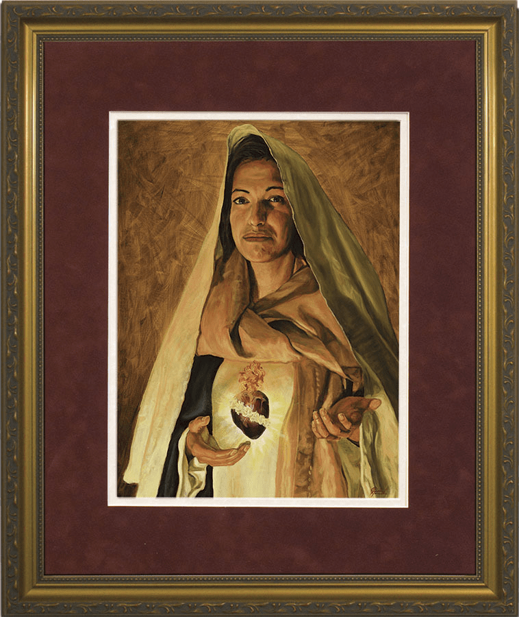Nelson Immaculate Heart of Mary by Jason Jenicke Gold Framed Wall Art Picture