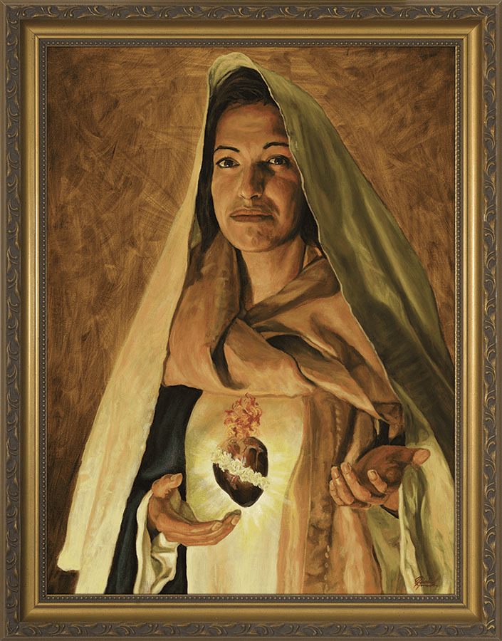 Nelson Immaculate Heart of Mary by Jason Jenicke Gold Wall Art Picture
