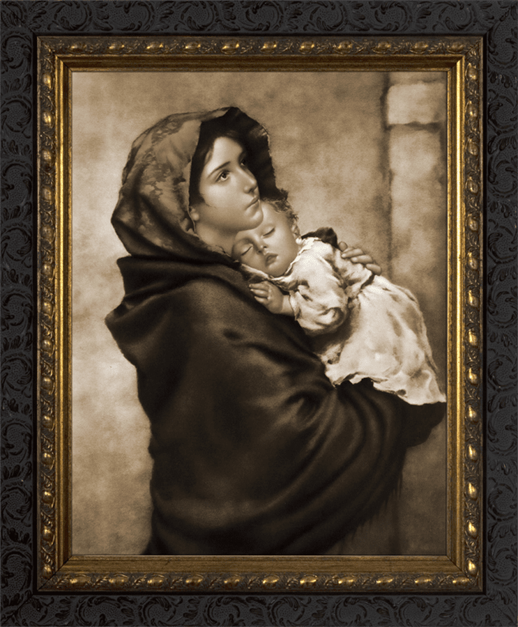 Nelson Madonna of the Streets Dark Wood Framed Wall Art Picture