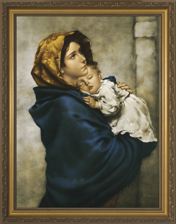 Nelson Madonna of the Streets Gold Framed Wall Art Picture