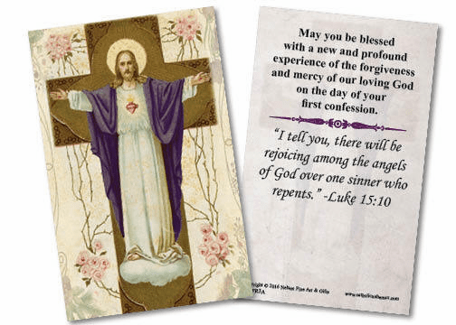 Nelson Resurrection First Reconciliation Holy Prayer Cards