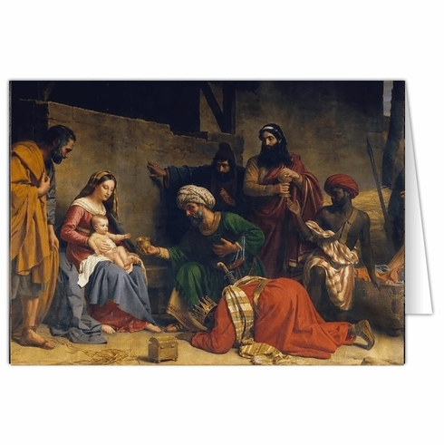 Nelson's Adoration of the Magi by Alexandre Francois Caminade Christmas Cards