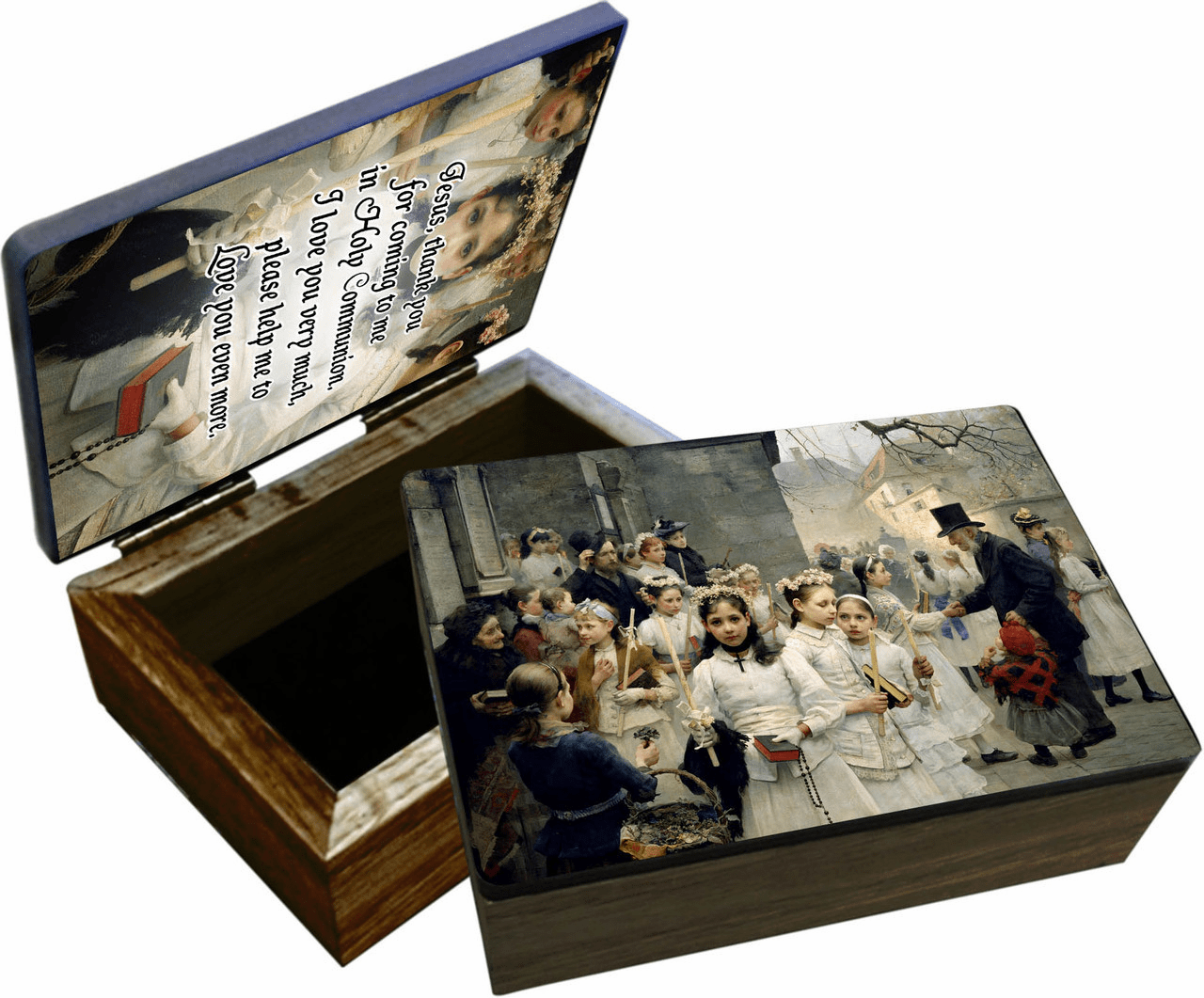 Nelson's After the First Holy Communion Wooden Rosary and Keepsake Box