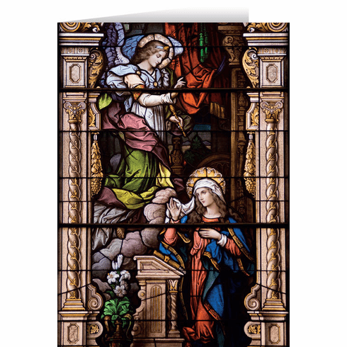Nelson's Annunciation Stained Glass Christmas Cards