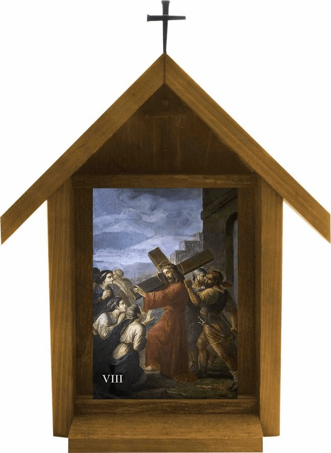 Nelson's Bertucci Stations of the Cross Handcrafted Deluxe Outdoor Shrine