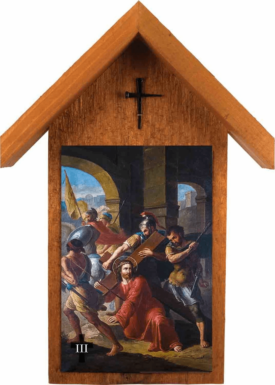 Nelson's Bertucci Stations of the Cross Handcrafted Simple Outdoor Shrine