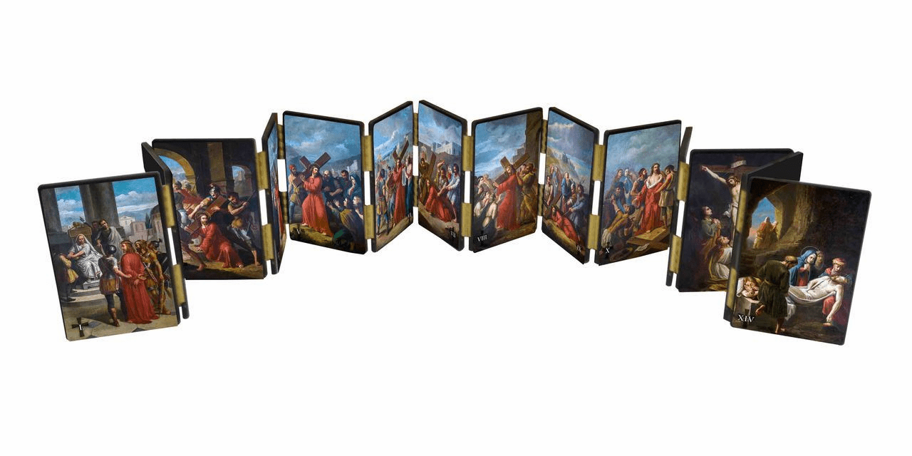 Nelson's Bertucci Stations of the Cross Hinged Home Mantle Set