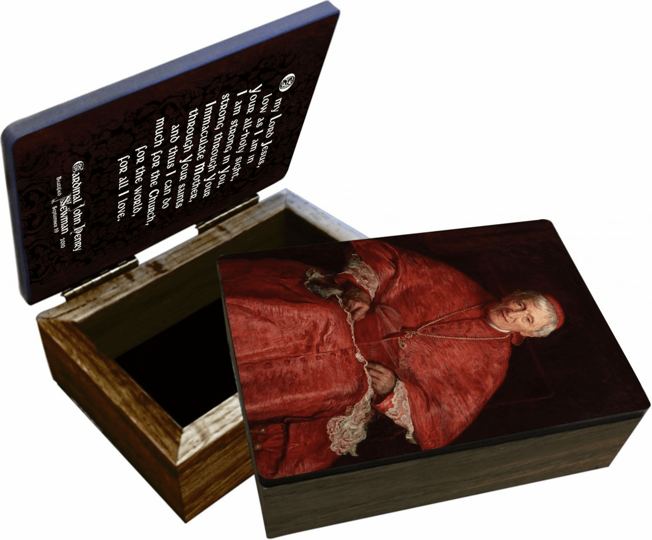 Nelson's Bl. Cardinal Newman Wooden Rosary and Keepsake Box