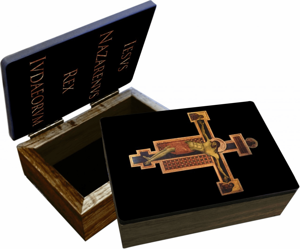 Nelson's Byzantine Crucifix Wooden Rosary and Keepsake Box