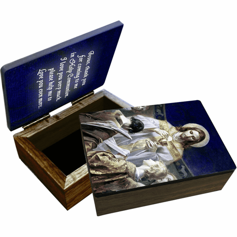 Nelson's Christ Bread of Angels Wooden Rosary and Keepsake Box