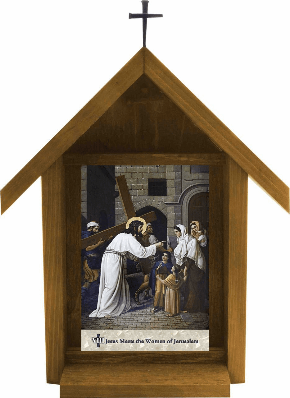 Nelson's Church Emmerich Stations of the Cross Deluxe Outdoor Shrine