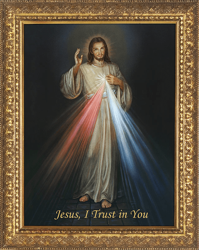 Nelson's Church-Sized Jesus Divine Mercy Canvas Wall Art