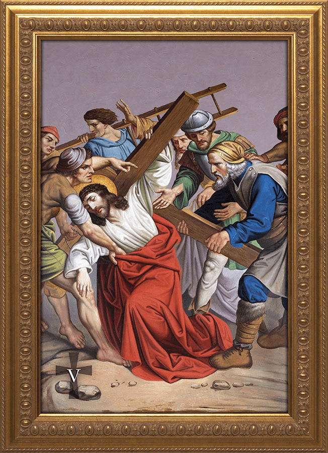 Nelson's Church Stations of the Cross Framed Giclee Canvas Wall 14pc Set
