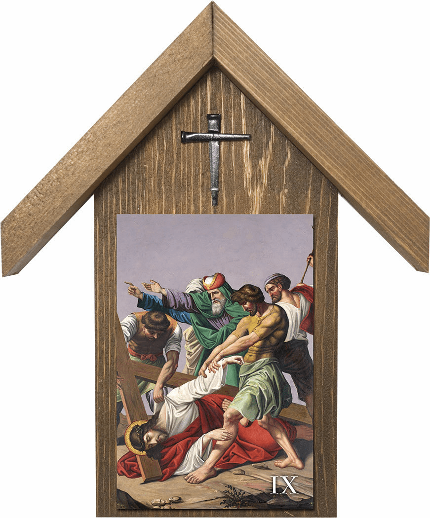 Nelson's Church Stations of the Cross Handcrafted Simple Outdoor Shrine