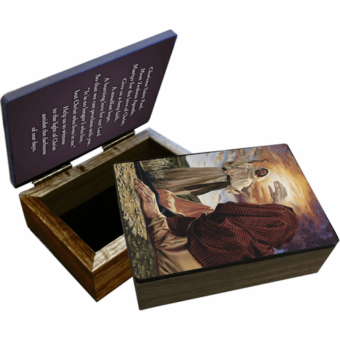Nelson's Conversion of St. Paul Wooden Rosary and Keepsake Box