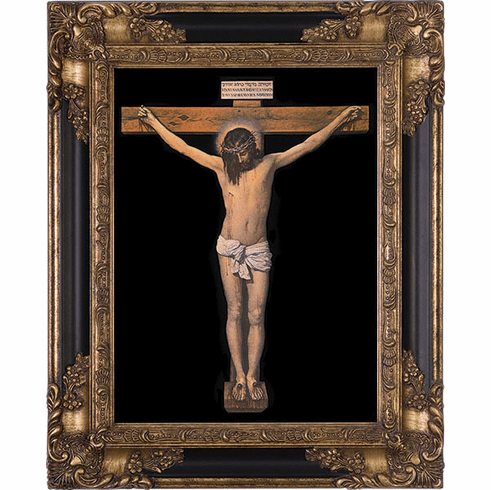 Nelson's Crucifixion by Velazquez Dark Museum Wall Framed Art