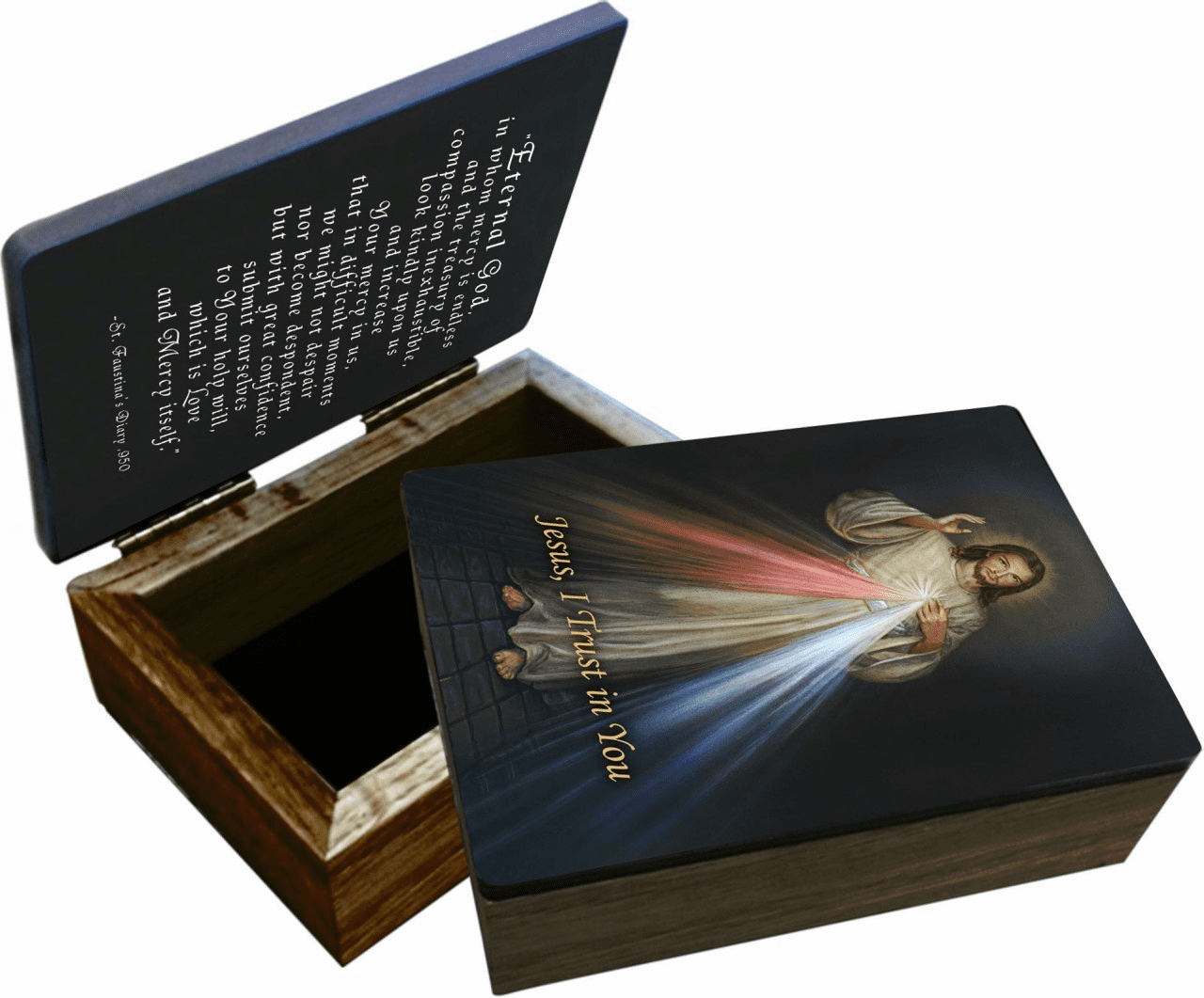 Nelson's Divine Mercy Wooden Rosary and Keepsake Box