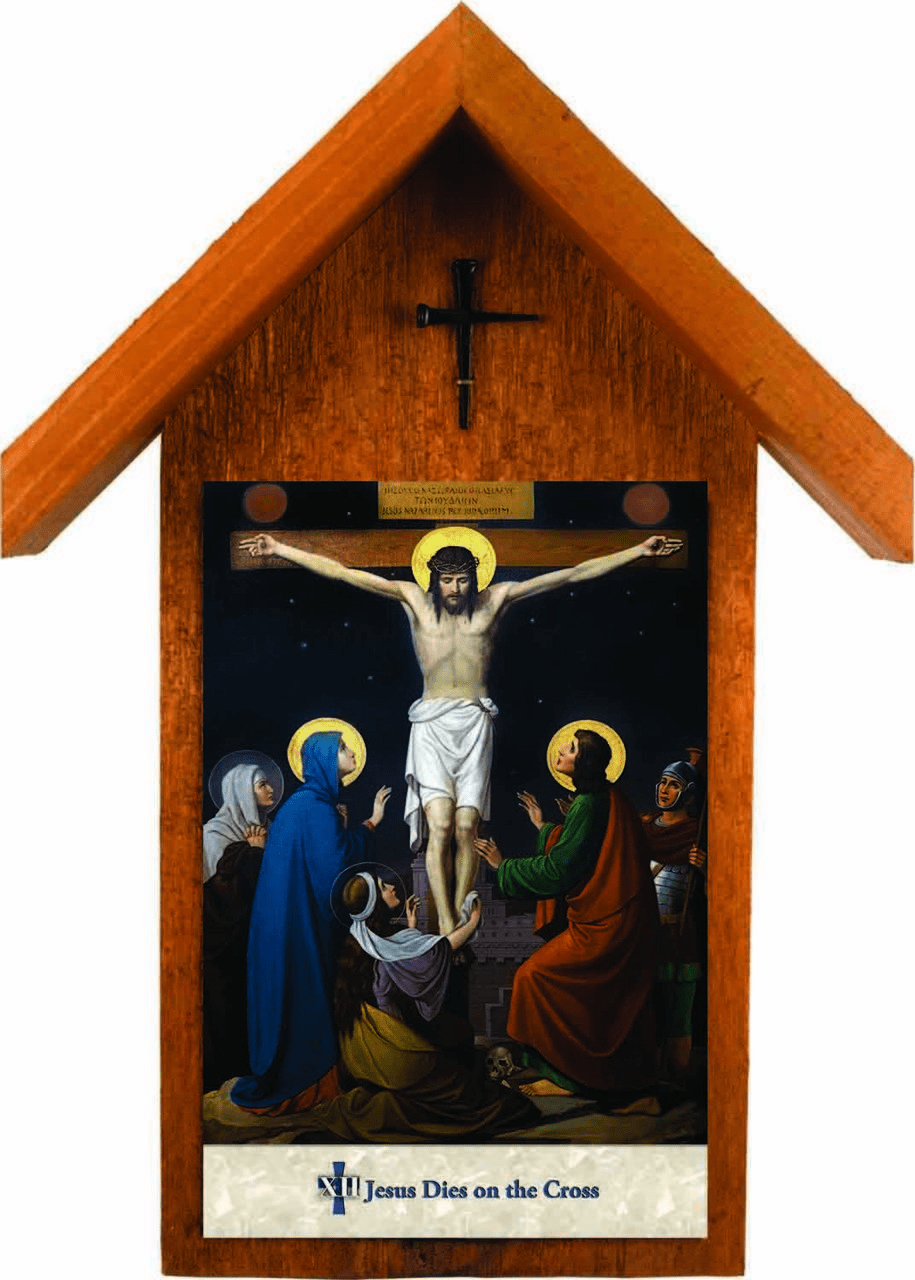 Nelson's Emmerich Stations of the Cross Handcrafted Simple Outdoor Shrine