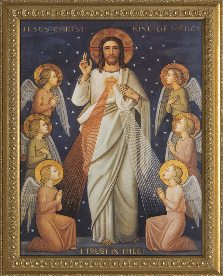 Nelson's Gifts King of Divine Mercy Stretched Canvas Wall Art