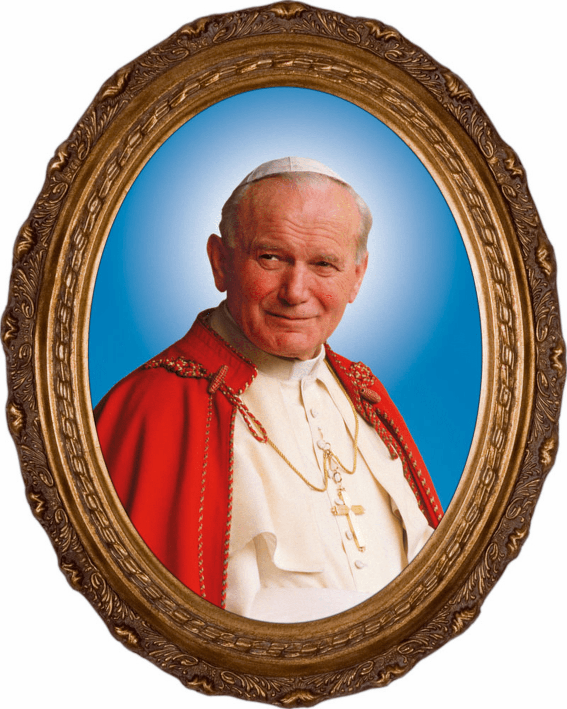 Nelson's Gifts Pope John Paul II Sainthood Formal Canvas in Oval Frame Wall Picture