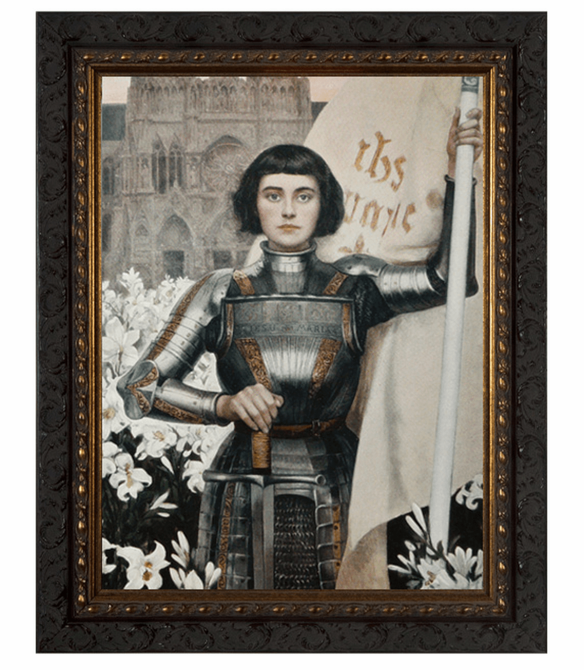 Nelson's Gifts St Joan of Arc by Albert Lynch Ornate Dark Framed Wall Art Picture