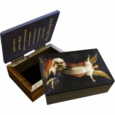 Nelson's Guardian Angel Wooden Rosary and Keepsake Box