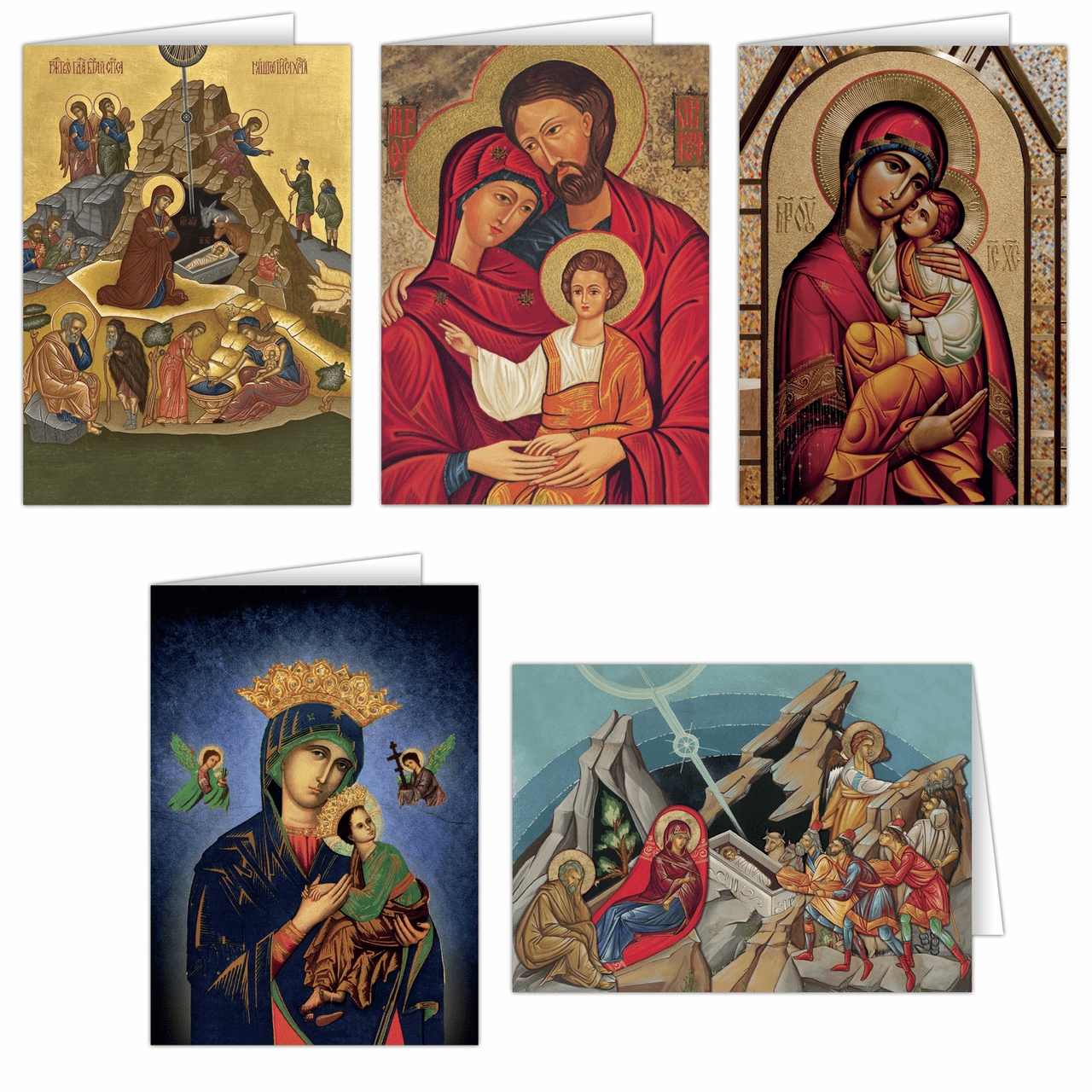 Nelson's Holy Family Icon Assortment Christmas Cards Set