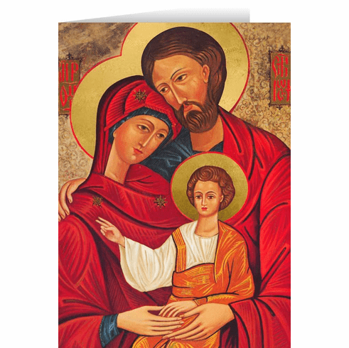 Nelson's Holy Family Icon Christmas Cards