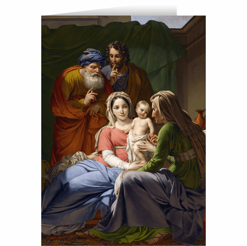 Nelson's Holy Family with Grandparents Joachim & Anne Christmas Cards