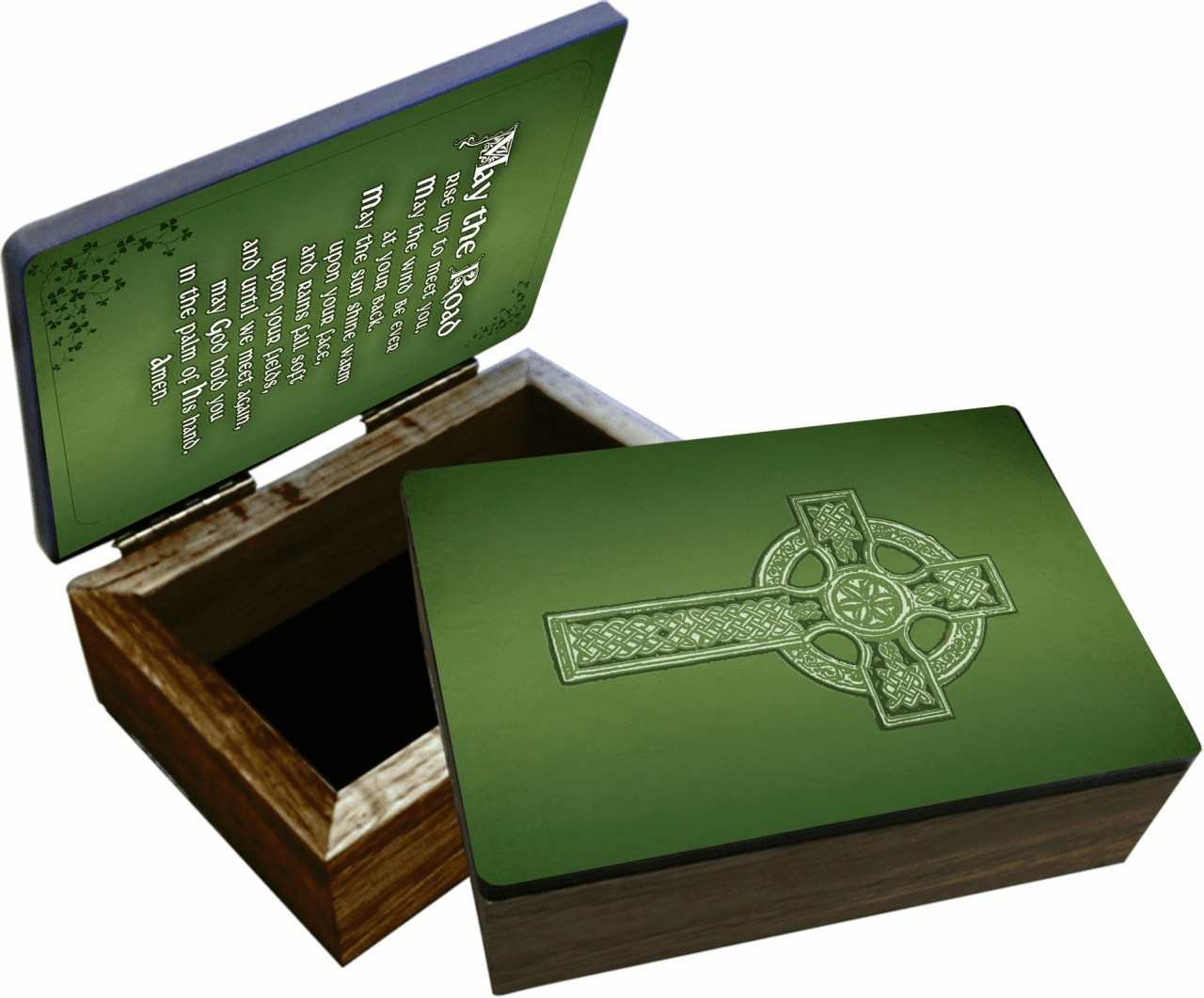 Nelson's Irish Blessing Wooden Rosary and Keepsake Box