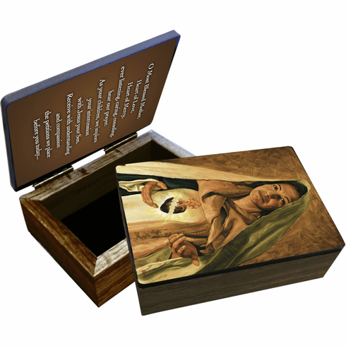 Nelson's Jenicke Immaculate Heart of Mary Wooden Rosary and Keepsake Box