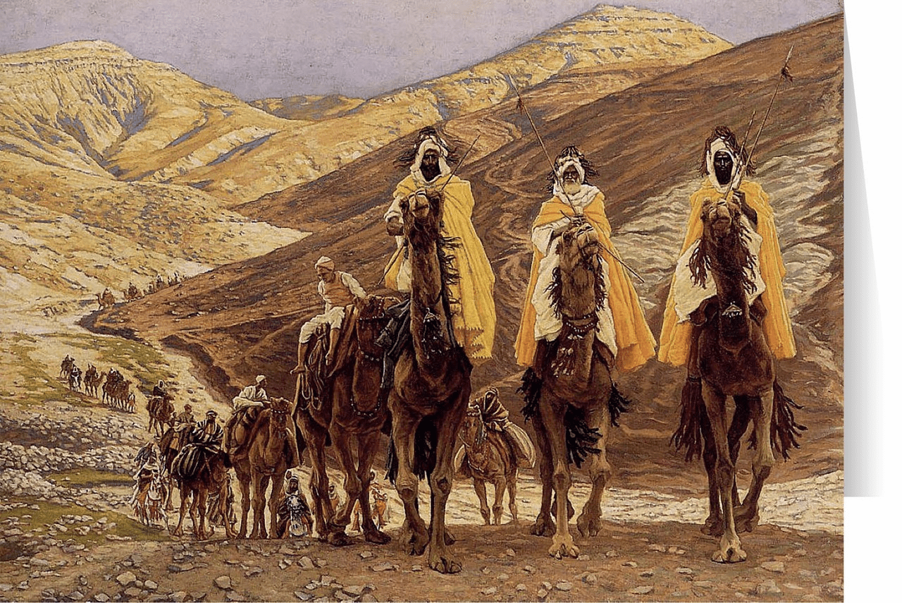 Nelson's Journey of the Magi by James Tissot Christmas Cards