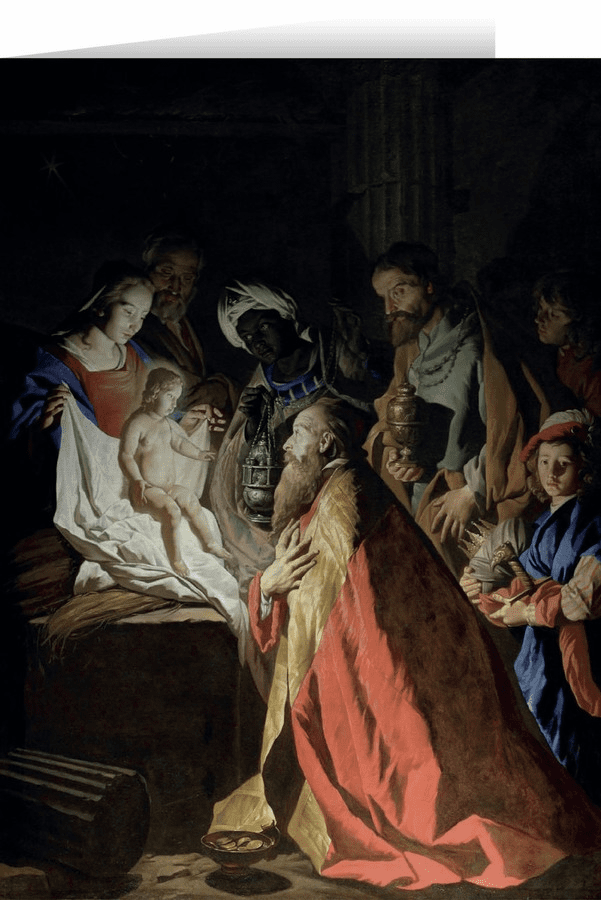 Nelson's L'adoration des Mages by Stom Christmas Cards