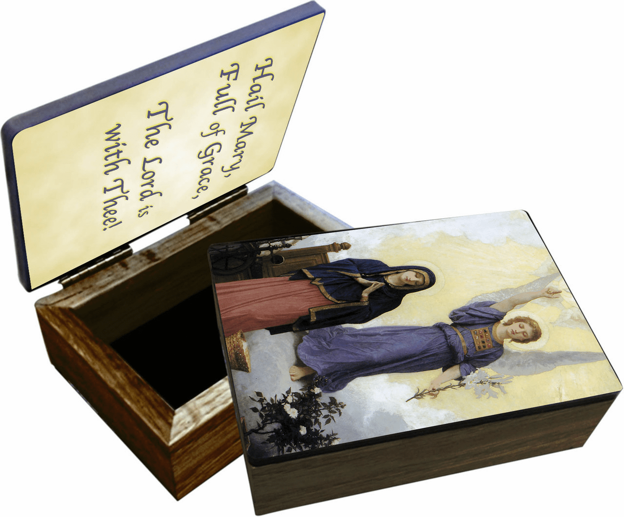 Nelson's L'Annunciation Wooden Rosary and Keepsake Box