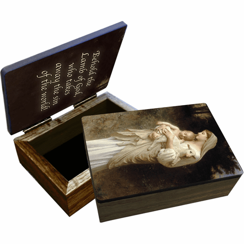 Nelson's L'Innocence Wooden Rosary and Keepsake Box