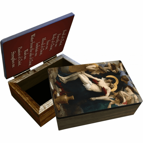 Nelson's La Pieta Wooden Rosary and Keepsake Box