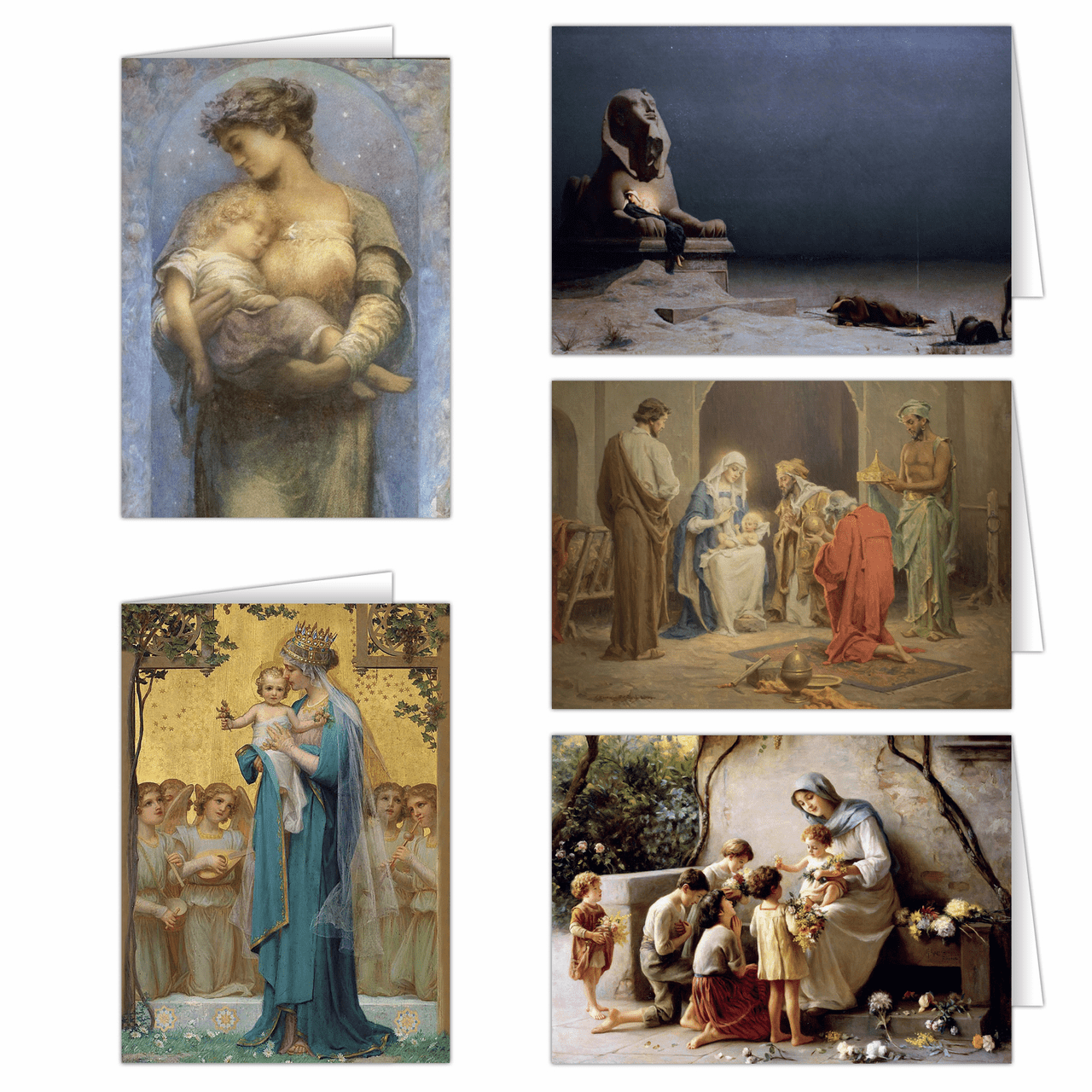Nelson's Madonna and Child Assortment Christmas Cards Set