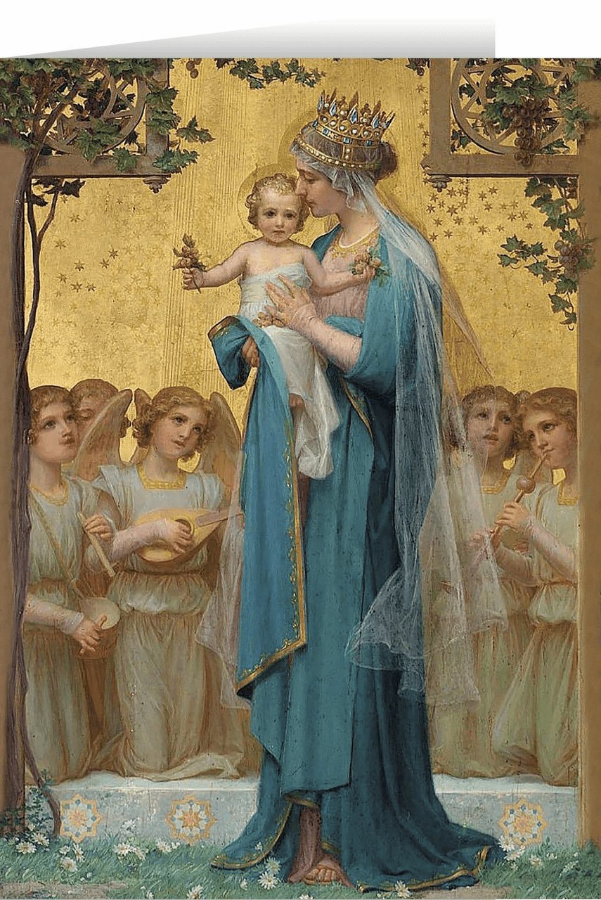 Nelson's Madonna and Child by Enric M. Vidal Christmas Cards