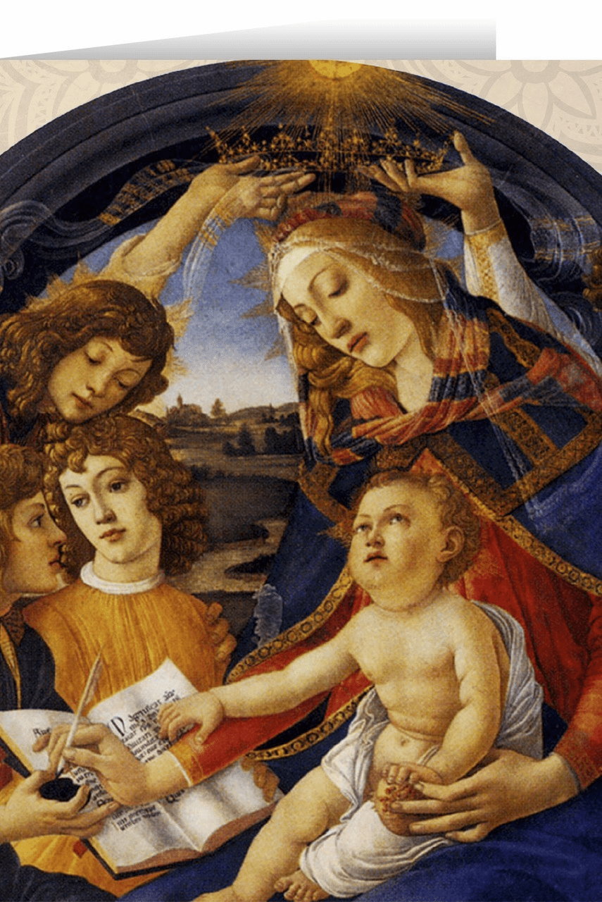 Nelson's Madonna of the Magnificat Christmas Cards