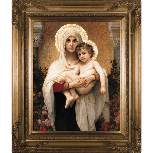 Nelson's Madonna of the Roses Canvas Gold Museum Wall Framed Art