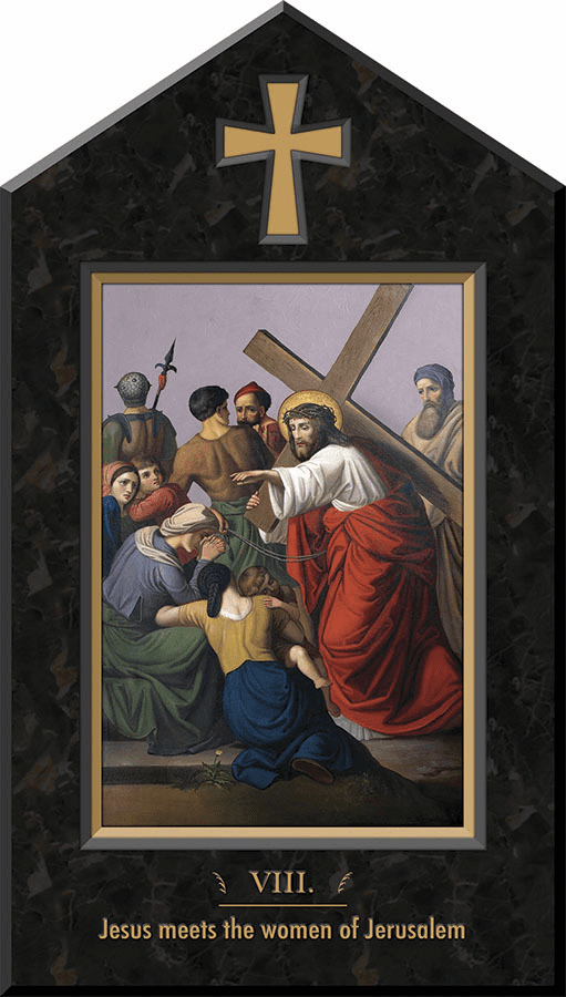 Nelson's Marbled Glossy Finish Stations of the Cross Shrine Wall Plaques