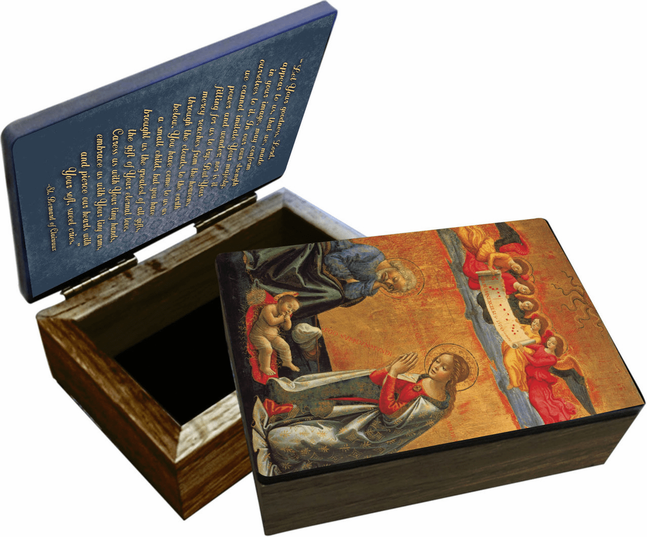 Nelson's Nativity with Prayer Wooden Rosary and Keepsake Box
