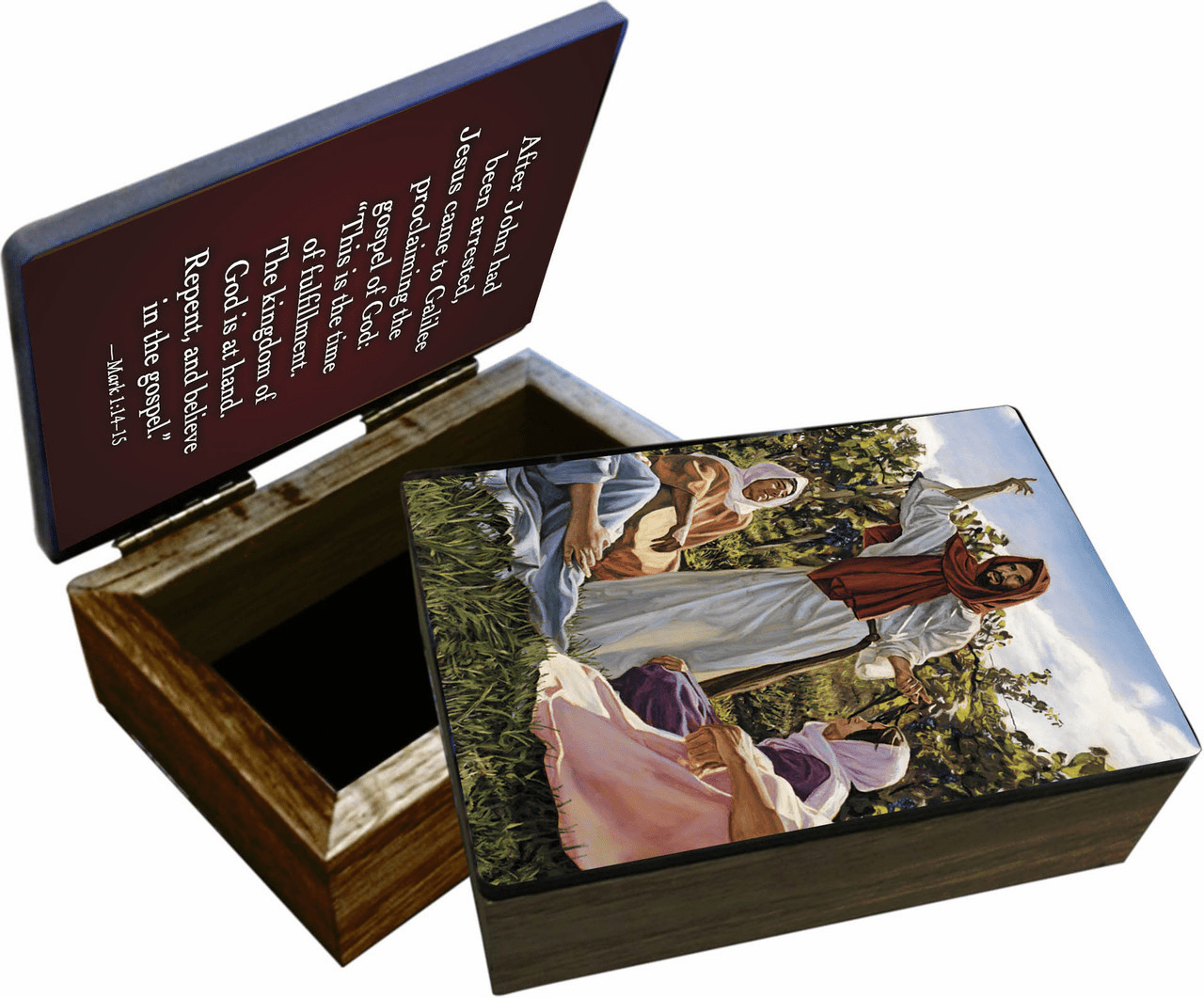 Nelson's Proclamation of the Kingdom Wooden Rosary and Keepsake Box