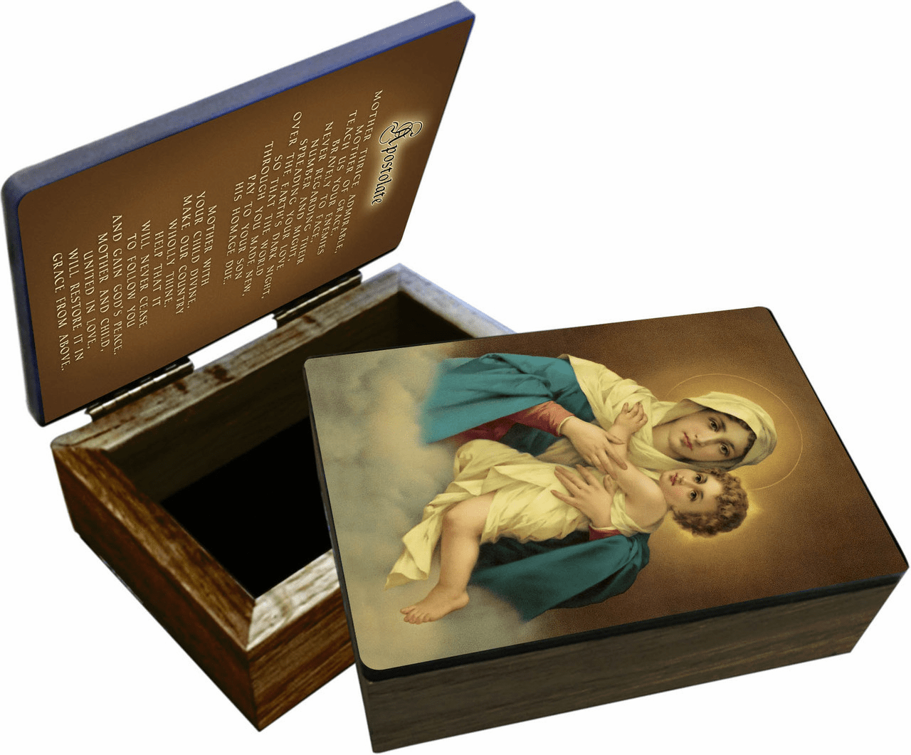 Nelson's Schoenstatt Madonna & Child Wooden Rosary and Keepsake Box
