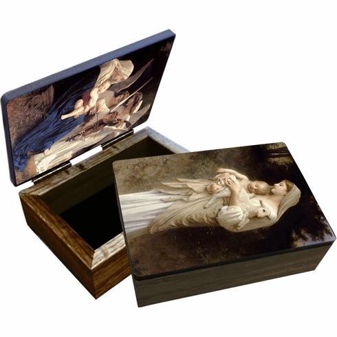 Nelson's Song of the Angels Wooden Rosary and Keepsake Box