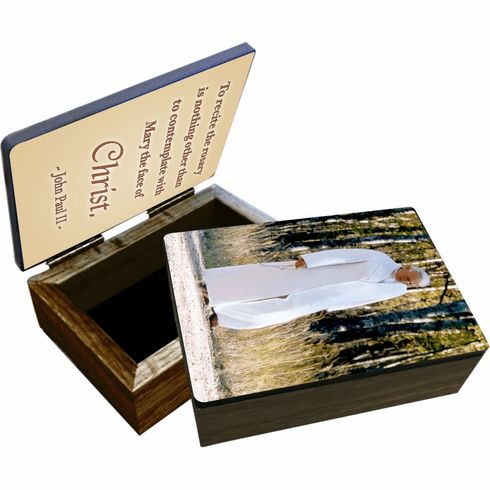 Nelson's St John Paul II Walking Rosary Wooden Rosary and Keepsake Box
