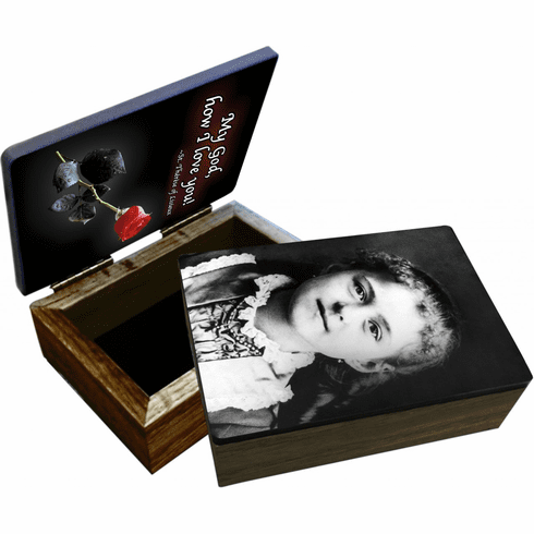 Nelson's St Therese of Lisieux as a Child Wooden Rosary and Keepsake Box